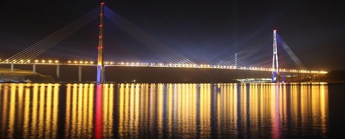 Владивосток  - Мост на остров Русский